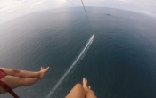 Parasailing at Manuel Antonio, Costa Rica